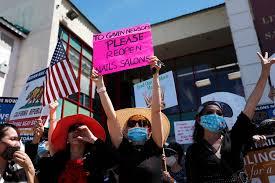 nail salons reopening in california