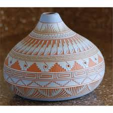 Native American Pottery, etched Signed: Sylvia Johnson