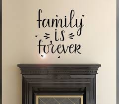 Vinyl Wall Decal Lettering Family Forever Home Decor Idea Stickers Mur Wallstickers4you