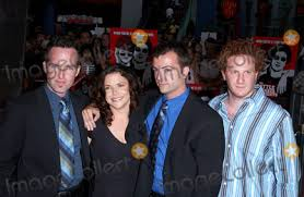 """Photos and Pictures - Photo by: Lee Roth STAR MAX, Inc. - copyright 2003.  8/11/03 Erica Beeney with Kyle Rankin, Efram Potelle and Jeff Balis at the  world premiere of """"The Battle"""