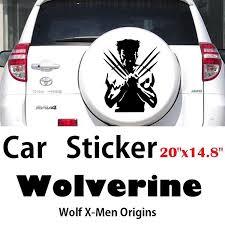 1pc Car Sticker Wolverine Xmen Super Hero Black Vinyl Stickers 20 X14 8 Size Design Craft Handmade Goods Accessories On Carousell