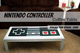 nintendo controller coffee table diy