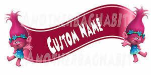 Poppy Troll Room Decor Wall Decal Removable Sticker Custom Name Hot Pink Ebay