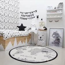 World Map Baby Play Mats Kids Crawling Carpet Floor Rug Baby Bedding Rabbit Blanket Cotton Game Pad Children Room Decoration Happy Baby Mama