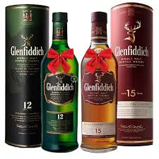 duo glenfiddich whisky gift set