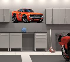 48 Dukes Of Hazzard General Lee 1969 Dodge Charger Car Huge Wall Graphic Decal Sticker Man Cave Garage Room Decor Mustapha Tichaona