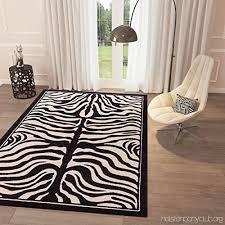 white grey zebra print area rug