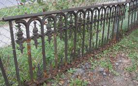 Vintage Wrought Iron Fences And Gates 64 Antique Victorian Cast Iron Fence With Gate Lot 64 Cast Iron Fence Wrought Iron Fences Iron Fence