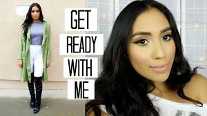 date night makeup outfit grwm