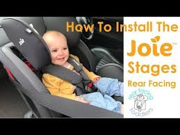 joie stages rear facing installation
