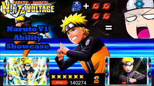 Naruto Uzumaki V1 (NEW Re- Kit) Ability Showcase | Naruto x Boruto Ninja  Voltage - YouTube