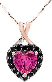 simulated pink sapphire black spinel