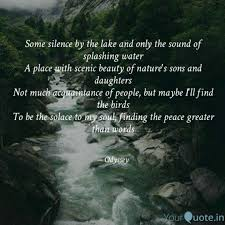 some silence by the lake quotes writings by swasti jain