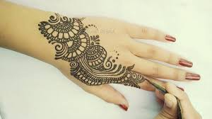 mehndi design photo back hand