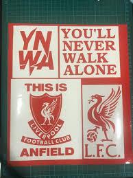 Liverpool Vinyl Decal Sticker Set Sports Sports Apparel On Carousell