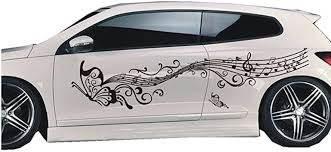 Amazon Com Bininbox 1 Set Car Auto Body Sticker Butterfly Self Adhesive Side Truck Vinyl Graphics Decals Black Automotive