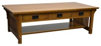 crofter style 6 drawer coffee table