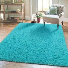 Amazon Com Super Soft Kids Room Nursery Rug 5 X 8 Blue Area Rug For Bedroom Decor Living Room Floor Carpets Fur Mat By Varycarry Kitchen Dining