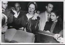 1953 Press Photo Myra Davis, stripper charge of an Obscene and ...
