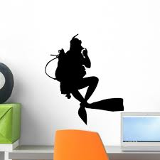 Scuba Diver Photographs Wall Decal Wallmonkeys Com