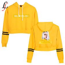 Billie Eilish New Waist Cap Sexy Hoodies Fashion Trend Crop Top ...