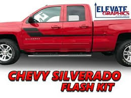Chevy Silverado Side Flash Stripes Vinyl Graphics 3m Decals Stickers 2007 2020 Ebay