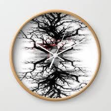 Creepy Tree Wall Clock By Tiararose Society6