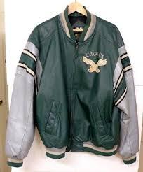 sz xl green leather jacket ms