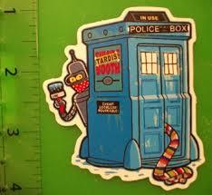 Free Dr Who Tardis Bender Futurama Vinyl Sticker Decal Weatherproof Stickers Listia Com Auctions For Free Stuff