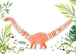 Dinosaur Birthday Invitacion De Cumpleanos Invitaciones De