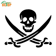 Dctop High Quality Double Sword Skull Wall Sticker Living Room Removable Home Decor Cartoon Wall Decals Decorative Vinyl Wall Decals Decal Stickerdecorative Car Decals Aliexpress