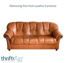 removing pen from leather furniture