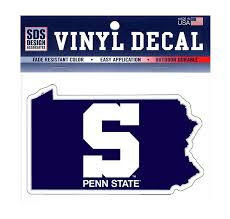 Penn State 3 Block S Pa State Decal Souvenirs Car Accessories Decals
