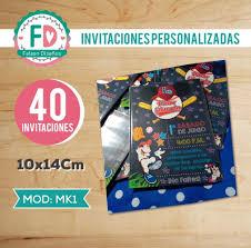 40 Invitaciones Y Stickers Cumpleanos Mickey Mouse Beisbol