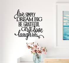 Wall Decal Love Dream Grateful Laugh Interior Vinyl Decor Black 22 5 I Wallstickers4you