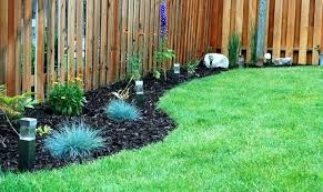 garden ideas along fence line trees