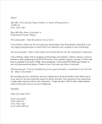 scholarship thank you letter sles in
