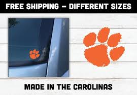 Sticker 5 Sizes Clemson Tigers Paw Logo Vinyl Decal Sports Mem Cards Fan Shop College Ncaa Romeinformation It
