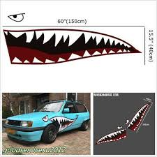2pcs 59 Size Shark Mouth Teeth Graphics Vinyl Car Sticker Decal Graphics Cool