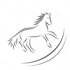 Vector Afbeelding Van Een Paard Op Witte Achtergrond Stockvector