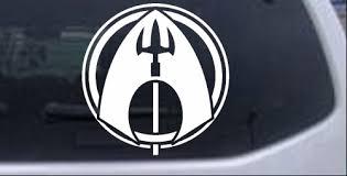Aquaman Logo Car Or Truck Window Decal Sticker Rad Dezigns