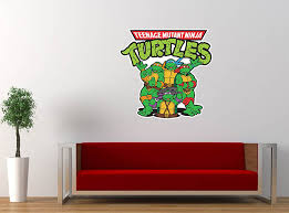 Teenage Mutant Ninja Turtles Cartoon Vinyl Sticker Decal Large 24 X25 Wall Room Graphic Decor Sticker 24 Walmart Com Walmart Com