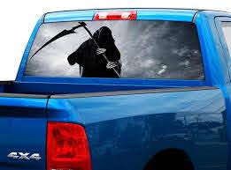 Product Death Skull Rear Window Decal Sticker Pick Up Truck Suv Car 2