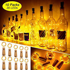 20 led 10 packs wine bottle lights