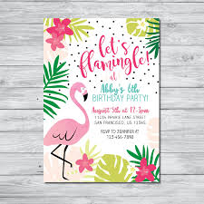 Flamingo Birthday Invitation Let S Flamingle Invitation Etsy