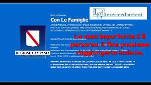 Bonus Famiglie con figli minori di 15 anni Regione Campania - YouTube