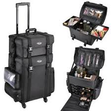 soft sided rolling makeup trolley train