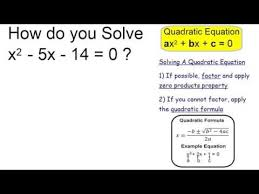 solve x 2 5x 14 0 you