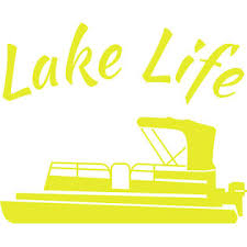 Unbranded Lake Life Pontoon Boat Decal Choose From Yeti Coffee Tumbler To Car Window Size