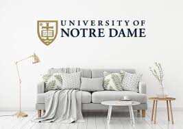 University Of Notre Dame Usa Indiana Universities Logo Wall Decal Stic Egraphicstore
